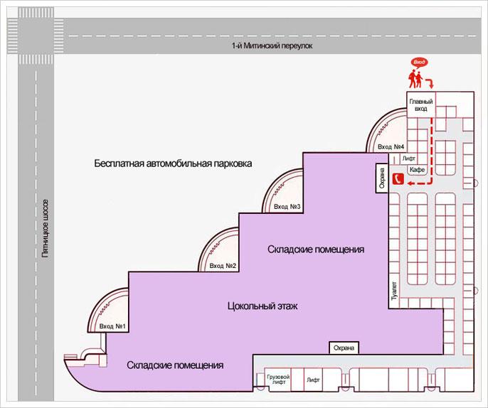 Схема проезда в Радиоритм
