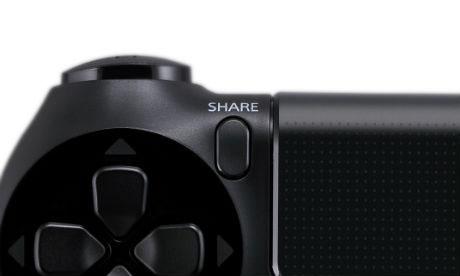 Кнопка Share на Playstation 4