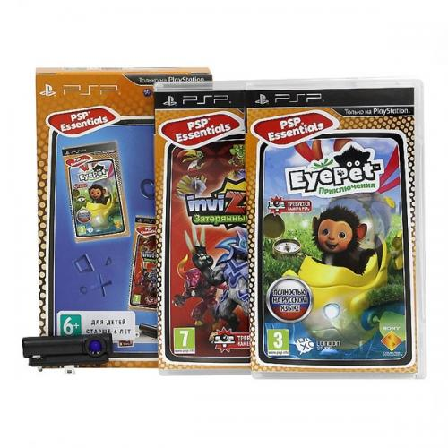 Набор: игра EyePet + игра Invizimals + камера (PSP)