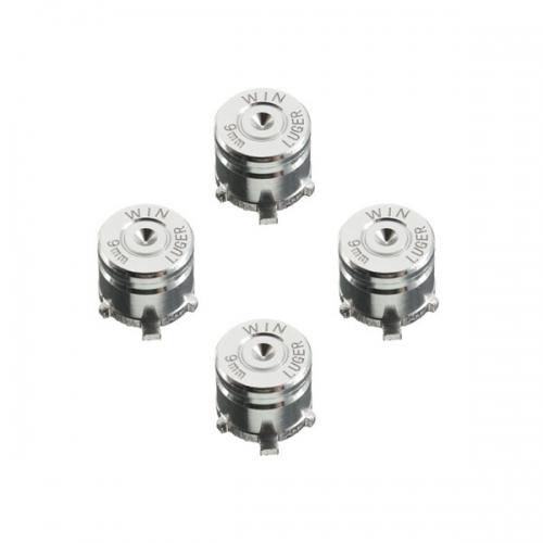 Набор алюминиевых кнопок «Bullet» для Dualshock 4 (Серебряный)