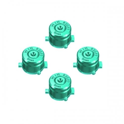 Набор алюминиевых кнопок «Bullet» для Dualshock 4 (Зеленый)