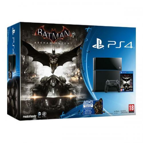 Playstation 4 500Gb (PS4) + игра «Batman: Рыцарь Аркхема»