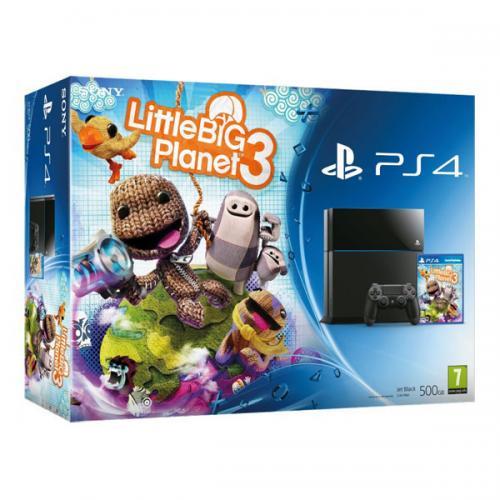 Playstation 4 (PS4) 500Gb черная + LittleBigPlanet 3