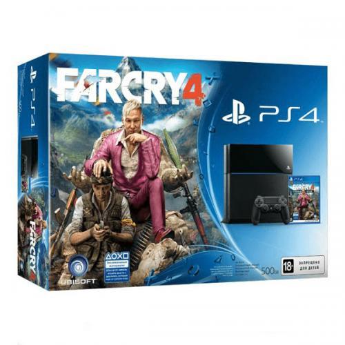 Playstation 4 (PS4) черная + Far Cry 4