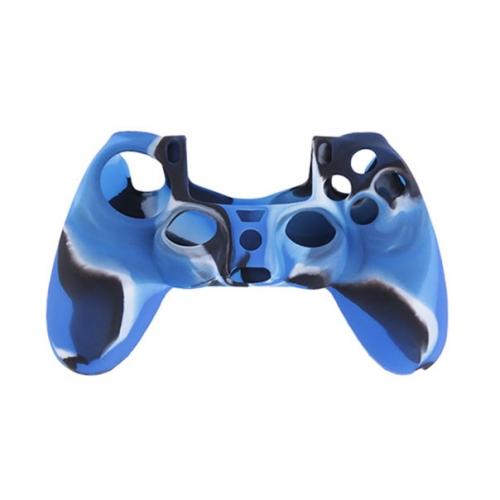 Силиконовый чехол для Dualshock 4 (Синий камуфляж)