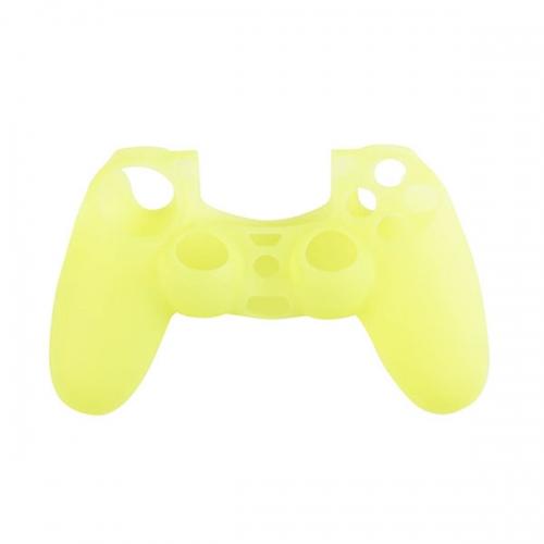 Силиконовый чехол для Dualshock 4 (Лимонный)
