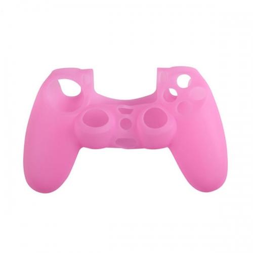 Силиконовый чехол для Dualshock 4 (Розовый)