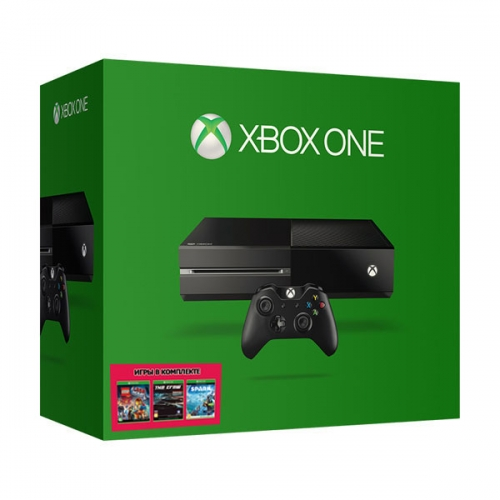Xbox One 500Gb черный с игрой «The LEGO Movie Videogame» + «The Crew» + «Project SPARK»