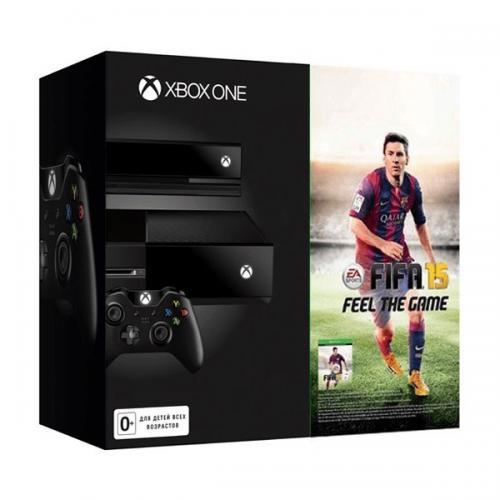 Xbox One 500GB черный + Kinect + FIFA 15 + DC Spotlight