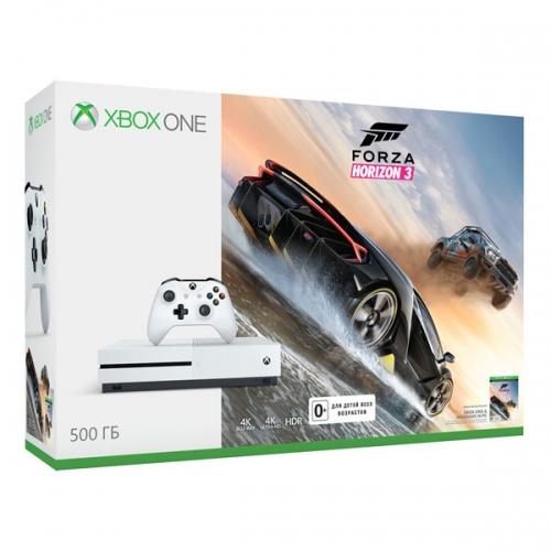 Xbox One S 500Gb белый с игрой «Forza Horizon 3»