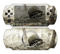 Виниловая наклейка «Череп в каске» (PSP 3000)