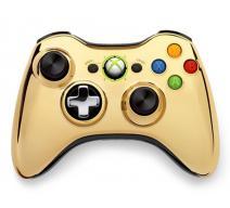 Геймпад Wireless Controller Chrome Gold (Xbox 360)