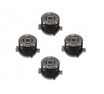 Набор алюминиевых кнопок «Bullet» для Dualshock 4 (Черный)