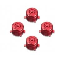 Набор алюминиевых кнопок «Bullet» для Dualshock 4 (Красный)