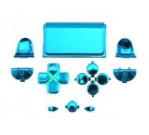 Набор хромированных кнопок для Dualshock 4 (Синий)