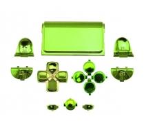 Набор хромированных кнопок для Dualshock 4 (Зеленый)
