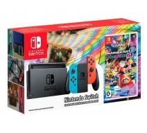 Nintendo Switch (неоновый красный/неоновый синий) с игрой «Mario Kart 8. Deluxe»