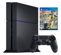 Playstation 4 500Gb черная (CUH-1208A) с игрой «FIFA 17»