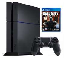 Playstation 4 1Tb черная с игрой «Call of Duty: Black Ops 3»