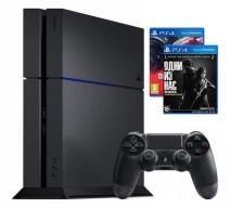 Playstation 4 1Tb черная с игрой «DriveClub» + «Одни из нас»