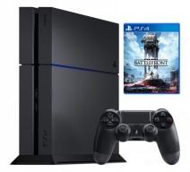 Playstation 4 1Tb черная с игрой «Star Wars: Battlefront»