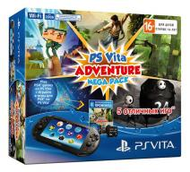 PS Vita 2008 Wi-Fi + карта 8 Gb + Adventure Mega Pack