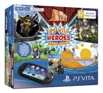 PS Vita 2016 Wi-Fi + карта 8 Gb + Heroes Mega Pack