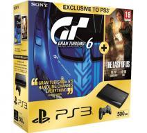 PS3 Super Slim 500Gb + Gran Turismo 6 + The Last of Us