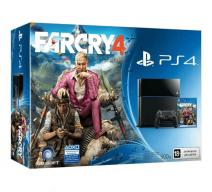Playstation 4 (PS4) черная + Far Cry 4