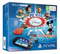 PS Vita 2008 Wi-Fi + карта 16 Gb + Disney Mega Pack
