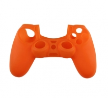 Силиконовый чехол для Dualshock 4 (Оранжевый)