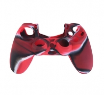 Силиконовый чехол для Dualshock 4 (Красный камуфляж)