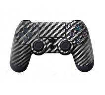 Виниловая наклейка на Dualshock 4 «Black Carbon»