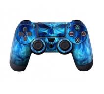 Виниловая наклейка на Dualshock 4 «Blue Scull»