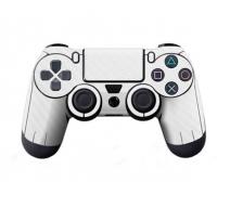 Виниловая наклейка на Dualshock 4 «White Carbon»