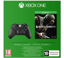Беспроводной геймпад черный (Xbox One) с игрой «Mortal Kombat X»