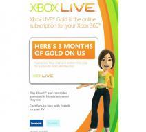 Xbox LIVE Gold на 3 месяца