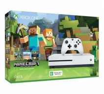 Xbox One S 500Gb белый с игрой «Minecraft. Favorites Pack»
