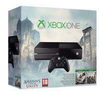 Xbox One 500Gb черный + Assassins Creed Black Flag + Unity