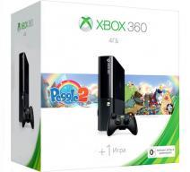 Xbox 360 4Gb E черный c игрой «Peggle 2»