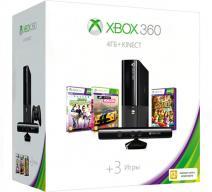 Xbox 360 4Gb E черный + Kinect + «Kinect Sports» + «Forza Horizon»