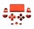 Набор хромированных кнопок для Dualshock 4 (Красный)